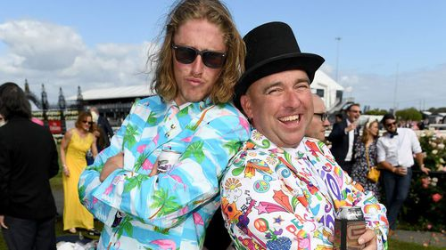 Colourful get-ups ruled the racecourse. (AAP)
