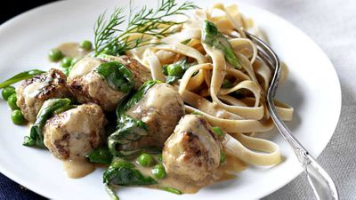 "Recipe: <a href=""http://kitchen.nine.com.au/2016/10/12/15/12/swedish-meatballs-with-wholemeal-fettuccine-pasta"" target=""_top"">Swedish meatballs with wholemeal fettuccine pasta</a>"