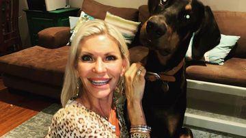 Devora Howard with her Doberman,