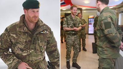 Prince Harry visits British troops in Norway, February 2018