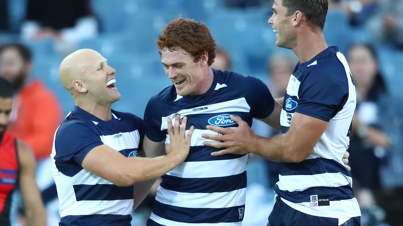 AFL: Cats' Luke Dahlhaus, Gary Rohan too good for Essendon in JLT