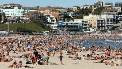 As coronavirus was spreading rapidly around the world, thousands of Australians packed onto Bondi Beach.