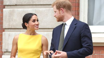<p>Prince Harry and Meghan Markle madly in love at Commonwealth Youth event, July 2018</p>