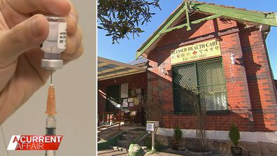 Medical clinic under fire over COVID-19 vaccine fees.