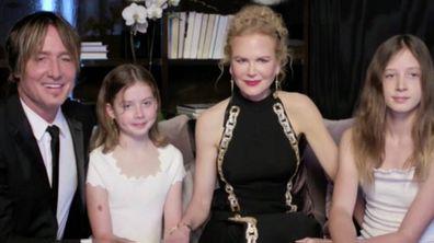 Nicole Kidman, Keith Urban and their daughter's Faith and Sunday.