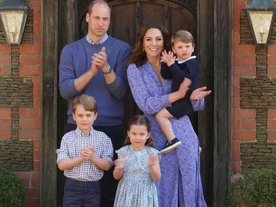 The Cambridge family participates in the 'Clap for our Carers' campaign