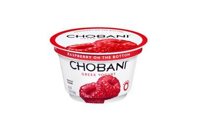 Chobani raspberry Greek yoghurt: 553kj/132 calories