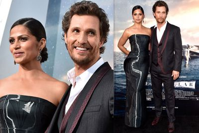 Matthew McConaughey showed off his best asset, Camilla Alves. What a babe.