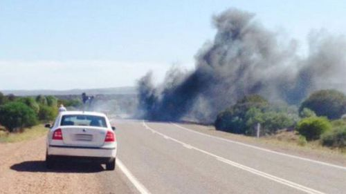 Three killed in fiery head on crash between truck and 4WD in SA