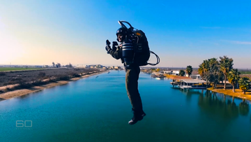 David Mayman has spend the last 20 years developing an extraordinary jetpack and is now teaching others to fly.