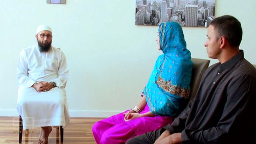 """But in the eyes of Allah the couple are already married, with their Imam performing a traditional Muslim commitment ceremony called a """"Nikkah"""" last year. (60 Minutes)"""