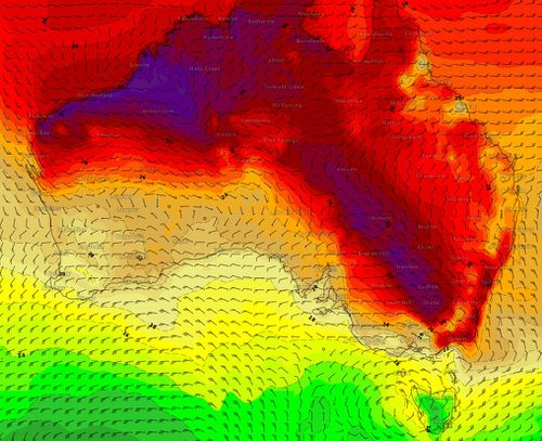 Parts of Sydney are expected to reach at least 35 degrees today. (Weatherzone)