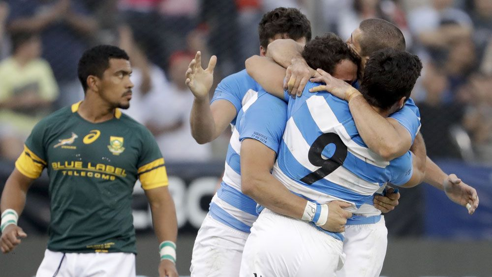 Argentina have snatched a last-gasp victory over the Springboks. (AAP)