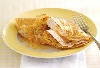 Crepes with lemon ricotta