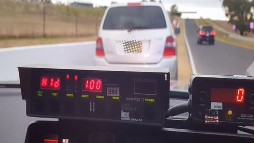 Two drivers were pulled over after being clocked more than 30km/h over the speed limit at Mount Panorama in Bathurst.