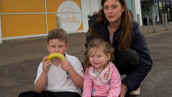 From the mouths of babes: these children had their free fruit snatched by staff. Image: Daily Record