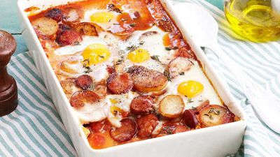 <strong>Spanish baked eggs</strong>