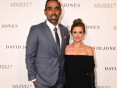 Adam Goodes and wife Natalie Croker. (AAP)