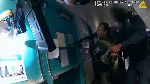 San Jose railyard mass shooting police body-cam footage.