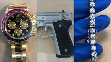 Police executed a search warrant at a Bankstown home in November last year, uncovering guns, drugs and almost $200,000 worth of jewellery.