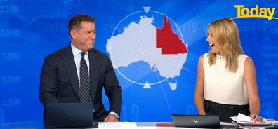 Ally Langdon was shocked when Karl Stefanovic revealed the details of the call.