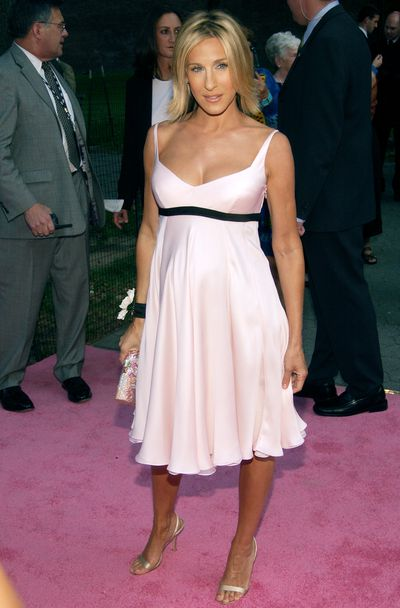 Sarah Jessica Parker  at the world premiere of the season five of <em>Sex and the City</em>&nbsp;in New York, 2002