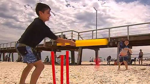 It was beach cricket weather across the country.