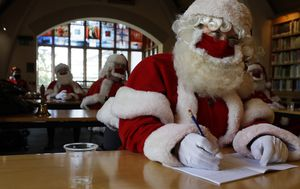 Pictures of the week: Santas in training, riots and storms in the US, NZ mosque survivors speak