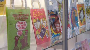 Show bags on display at the Sydney Easter Show