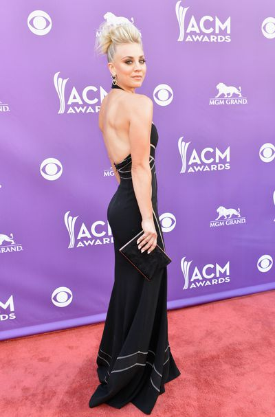 Kaley Cuoco attends the 48th Annual Academy of Country Music Awards at the MGM Grand Garden Arena on April 7, 2013