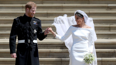 Harry and Meghan wedding photo following ceremony