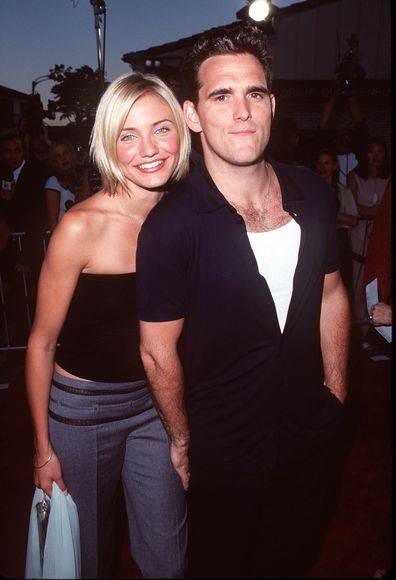 Cameron Diaz & Matt Dillon at the There's Something About Mary Los Angeles Premiere in 1998.