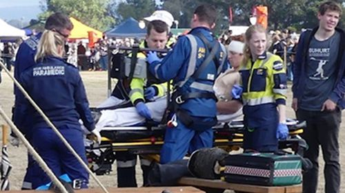 Man struck in head with axe at  medieval fair battle