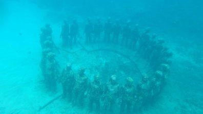 Grenada's underwater sculptures
