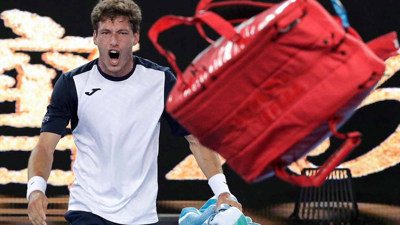 Spanish tennis player's shocking on-court tantrum after crushing Aus Open defeat