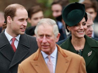 Prince William, Prince Charles and Kate Middleton