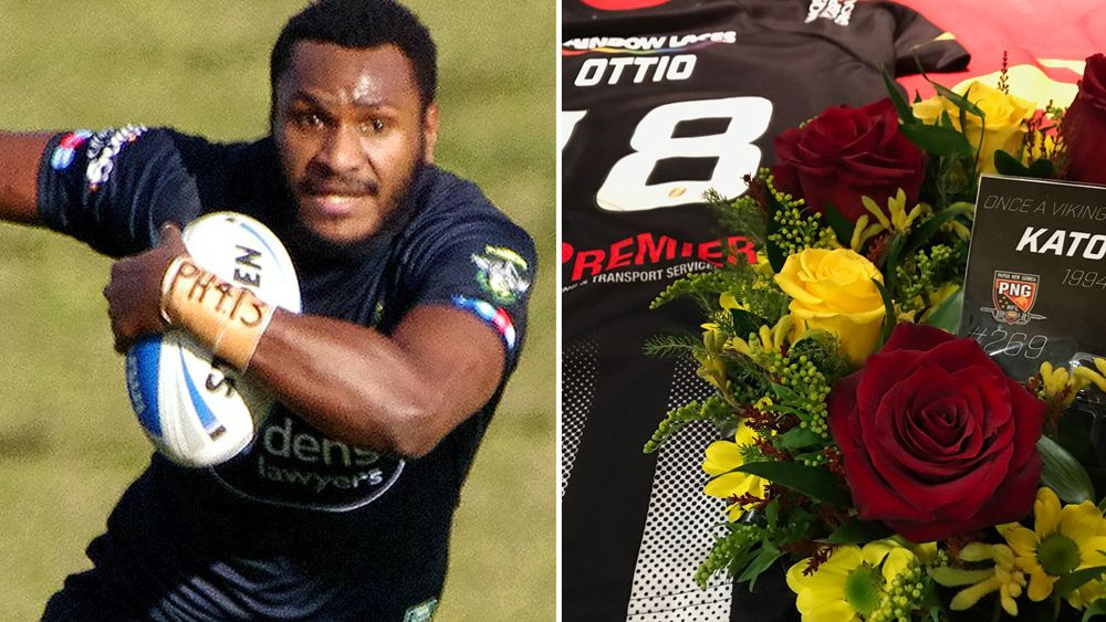 Super League club Widnes pay tribute to PNG and former NRL star Kato Ottio