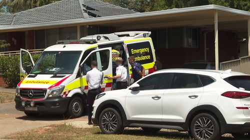 A toddler has been rushed to hospital after being pulled from a backyard pool.