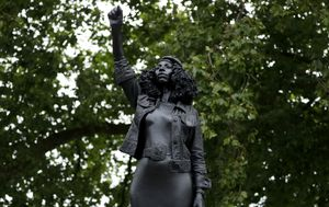 Black Lives Matter: Statue of Black protester replaces toppled UK slave trader in Bristol