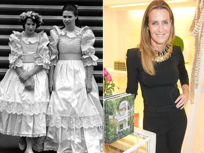<p>India Hicks</p> <p>Left image: India Hicks (L), 13, and Lady Sarah Armstrong-Jones (R), the 17 year old daughter of Princess Margaret, on the steps of St Paul's Cathedral for the wedding of Princess Diana and Prince Charles, 1981. Right image: India Hicks attends her book launch, 2015.</p>