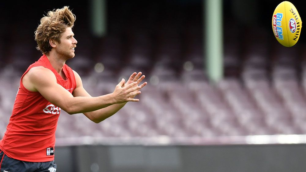 Sydney Swans' Dane Rampe breaks arm after training jump goes wrong