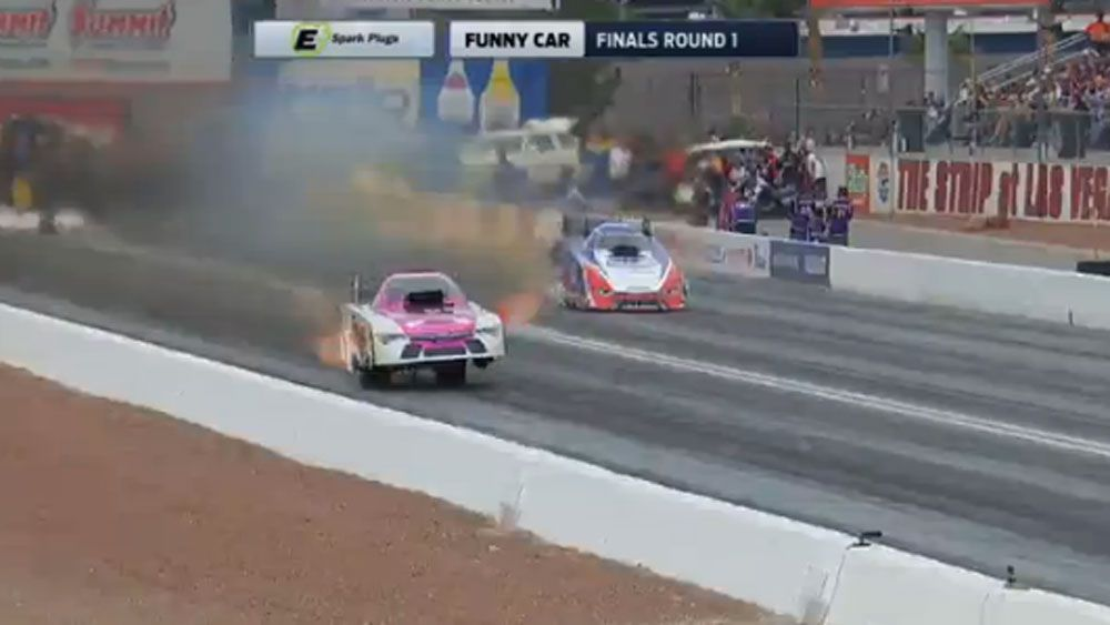 Drag racer takes wild ride in Vegas