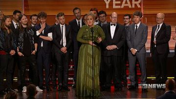 VIDEO: Adele wins five awards at Grammys
