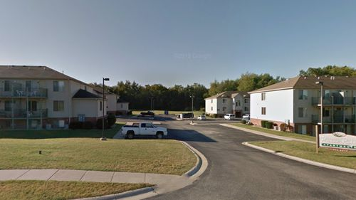 The apartment complex near where the girl was found dead in Indiana, USA.