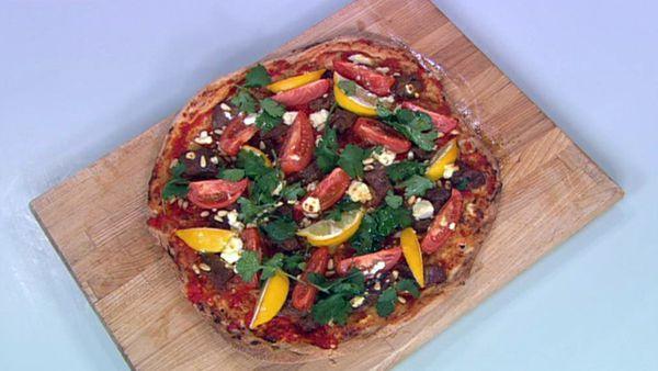 Lamb pizza