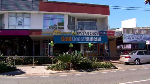 The Paradise Point newsagent which sold the lucky ticket. (9NEWS)