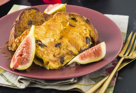 French toast with Cointreau maple syrup