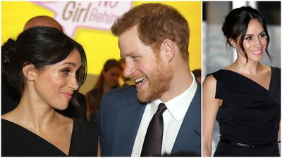 Loved up Meghan and Harry attend women's empowerment event