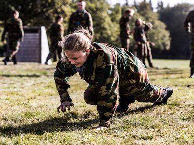 Princess Elisabeth undertakes military training