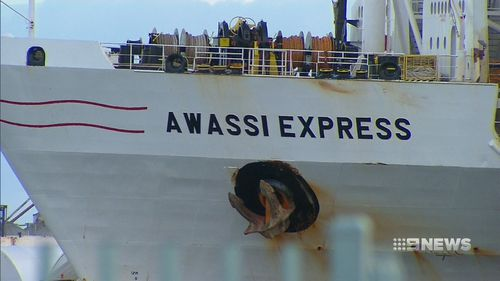 A live export ship has been stopped from leaving a Western Australian port. (9NEWS)